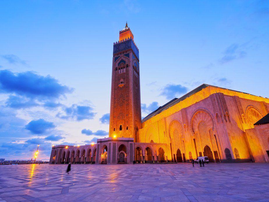 Hassan II Mosque in Casablanca, Morocco, Africa