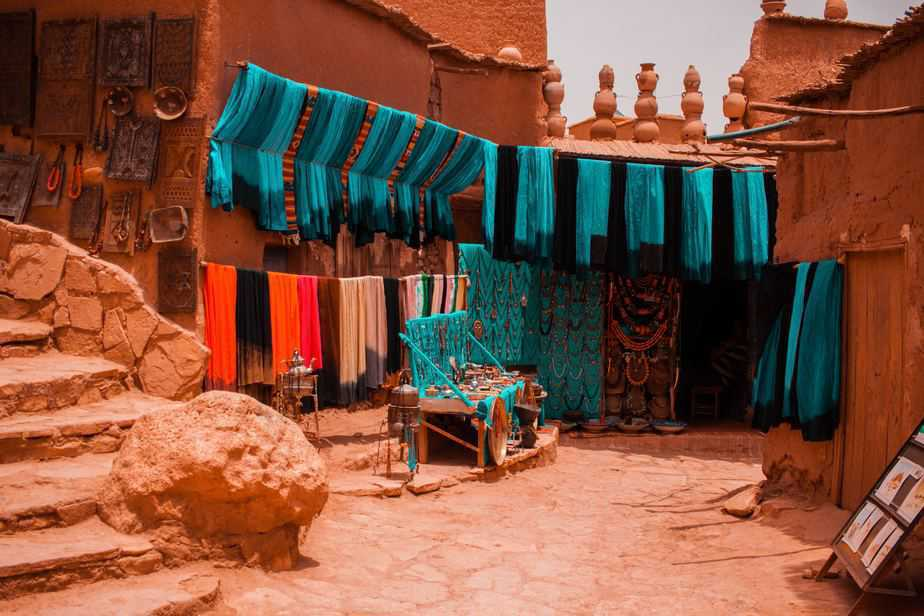 berber shops fossils and minerals morocco